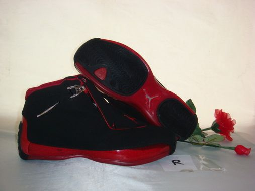 Air Jordan 18 Shoes Wine red/Black