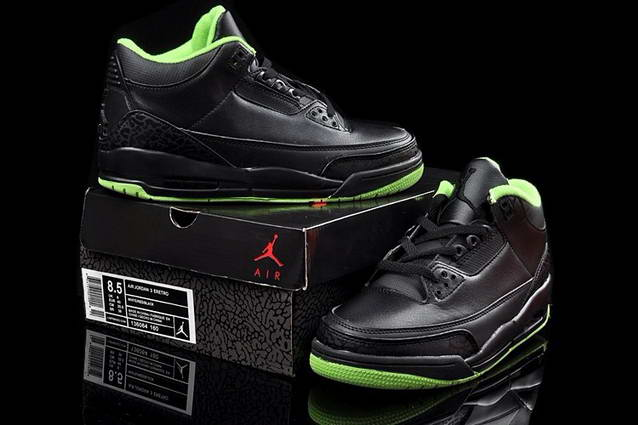 Air Jordan 3 joker Shoes Black/Green