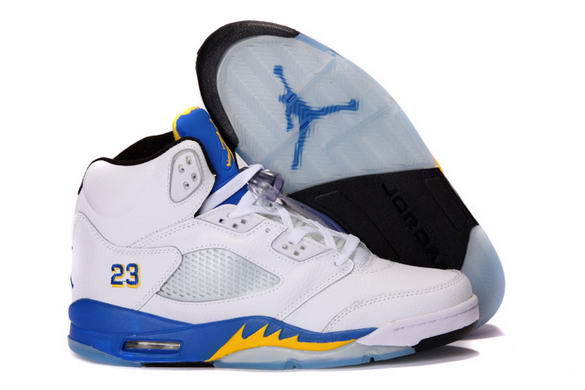 Air Jordan 5 Laney Shoes White/Varsity Maize Varsity Royal Black