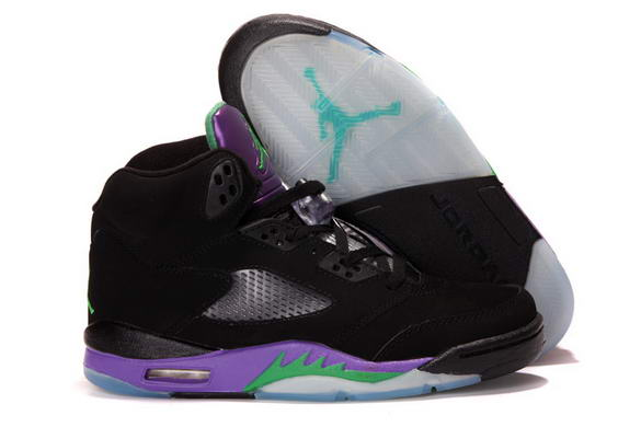 Air Jordan 5 Black Grape Shoes Black/Purple/Green