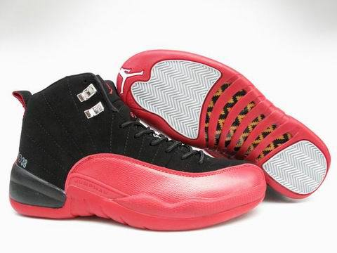 Air Jordan 12 Retro Shoes Black/Red