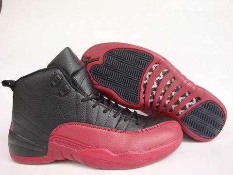 Air Jordan 12 Retro Shoes Black/Wine red