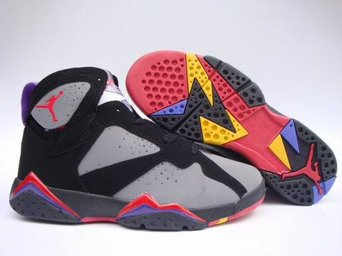 Air Jordan 7 Retro Shoes Dark gray/Red