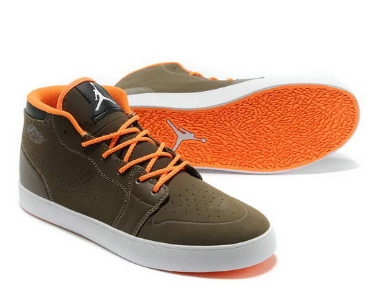 Air Jordan V1 Chukka Casual shoes Tan/orange white