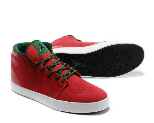 Air Jordan V1 Chukka Casual shoes Gym Red / Black Gorge Green White