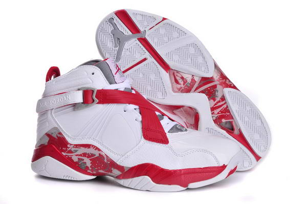Air Jordan 8 VIII Retro Shoes white/red gray