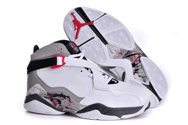 Air Jordan 8 VIII Retro Shoes white/gray black red