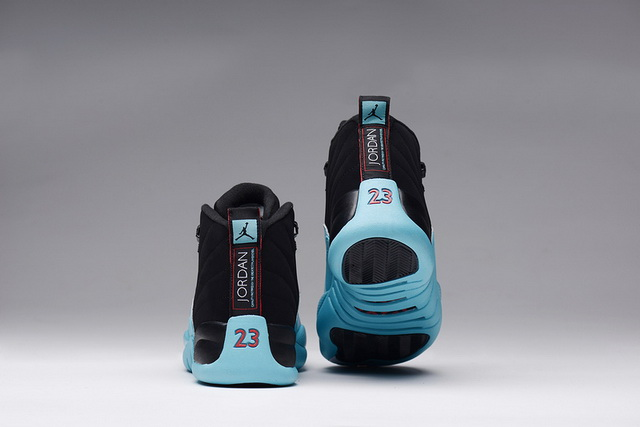 Air Jordan 12 (XII) Retro Gamma Blue Shoes black/gamma blue red