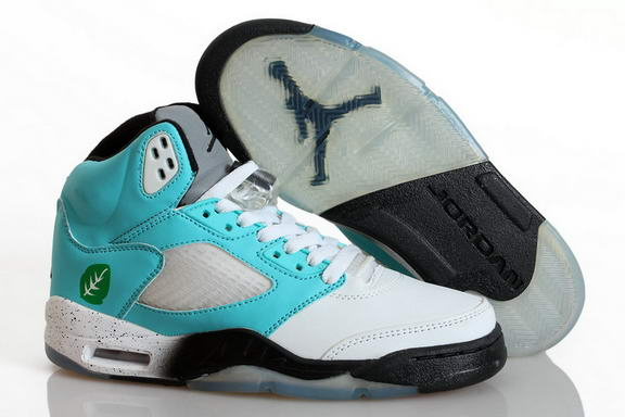 Air Jordan 5 Cool Summer Shoes Blue/white black