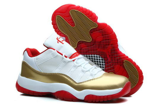 Air Jordan 11 Retro Low Shoes Gold/white red
