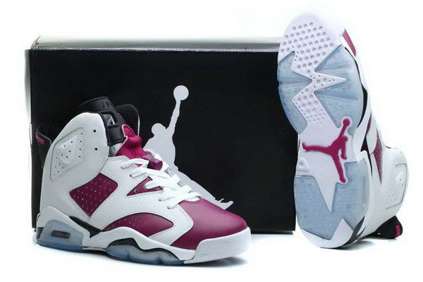 Air Jordan 6 Grapes Shoes White/purple black