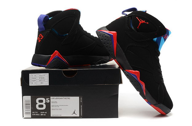 Air Jordan 7 Retro Shoes black/red