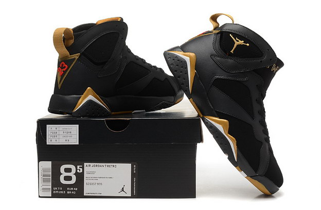 Air Jordan 7 golden moments package Shoes black/gold