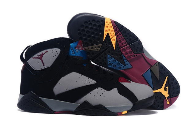 Air Jordan 7 Bordeaux Shoes Bordeaux Black/gray red blue