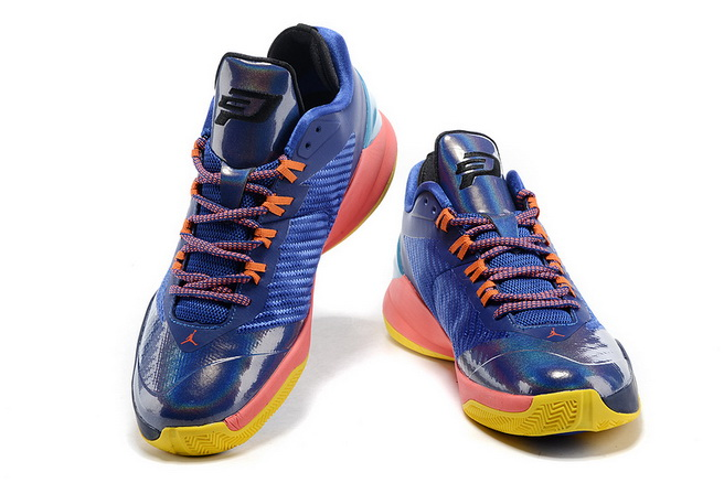 Jordan CP3 VIII Shoes Blue/yellow