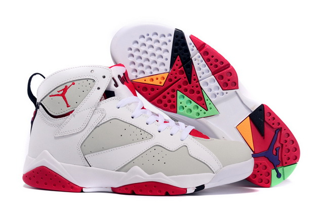 Air Jordan 7 hare Shoes White/Grey Infrared