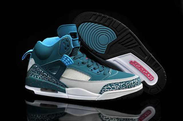 Air Jordan 3.5 Spizike Retro Shoes Dark green/white grey