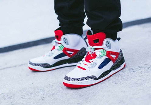 Air Jordan 3.5 Retro Shoes White/red black