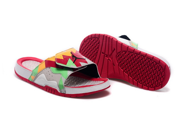 Jordan Hydro VII Retro Shoes Red/green yellow