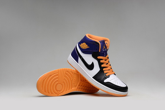 Air Jordan 1 Retro Shoes Blue/orange white black
