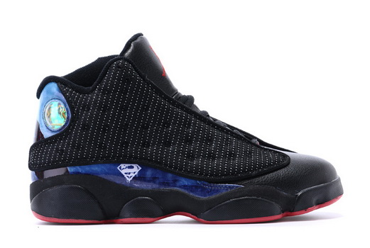 "Air Jordan 13 ""Batman vs Superman"" Shoes Black/blue red"
