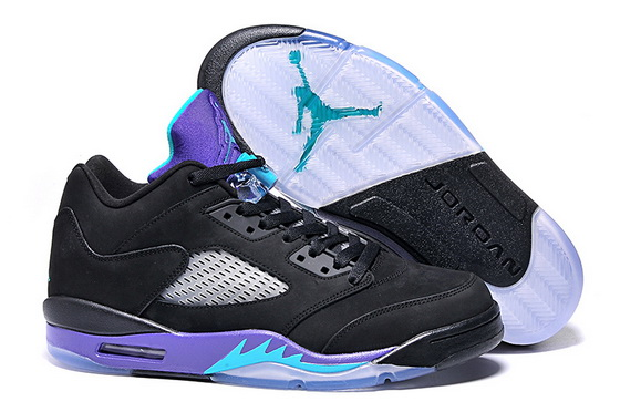 Men's Air Jordan 5 Low Shoes Black/purple blue