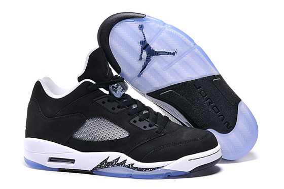Men's Air Jordan 5 Low Shoes Black/white