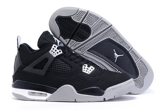 "Air Jordan 4 ""Canvas"" Shoes Black/wold gray"