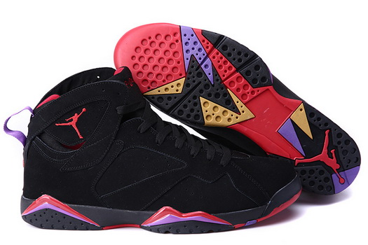 "Air Jordan 7 ""Raptors"" Size 14 15 16 Shoes Black/True Red Purple"