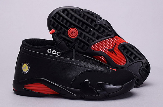 "Men""s Air Jordan 14 ""Last Shot"" Shoes Black/red"