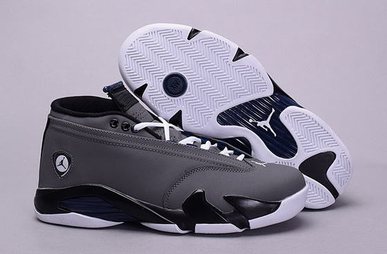 Men's Air Jordan 14 Low Shoes Dark gray/white black