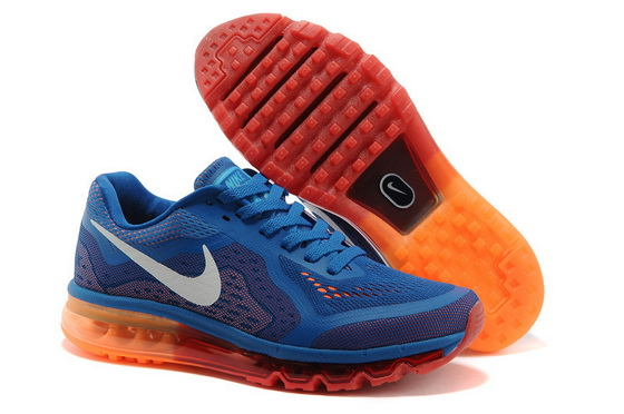 Men's Air Max 2014 Shoes Blue/white orange