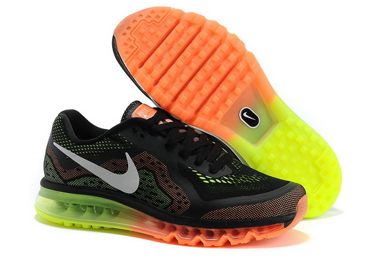 Men's Air Max 2014 Shoes Black/white orange