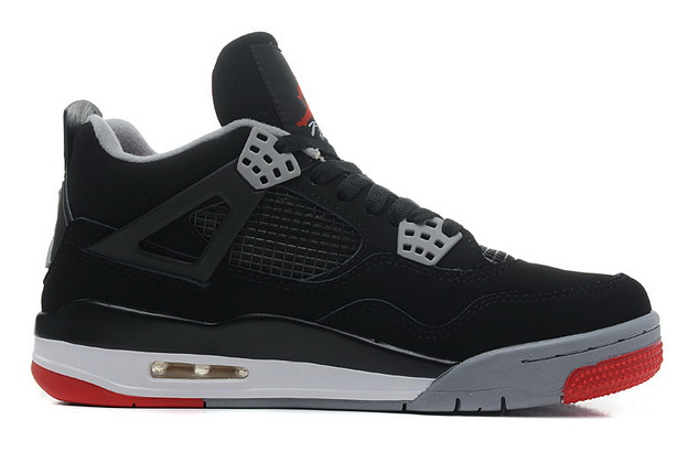 "Air Jordan 4 Big Size ""14 15 16"" Shoes Black/gray red white"