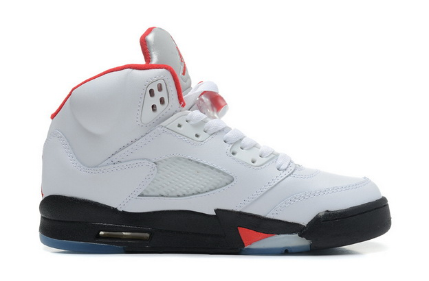 "Air Jordan 5 Big Size ""14 15 16"" Shoes White/red black"