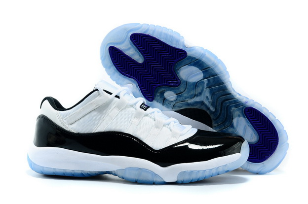 "Air Jordan 11 Big Size ""14 15 16"" Shoes concord white/black"