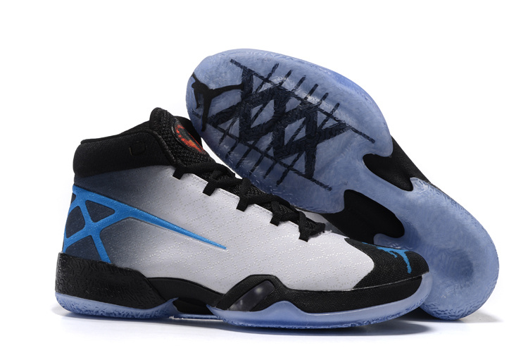 Air Jordan 30 XXX Shoes Black/white blue