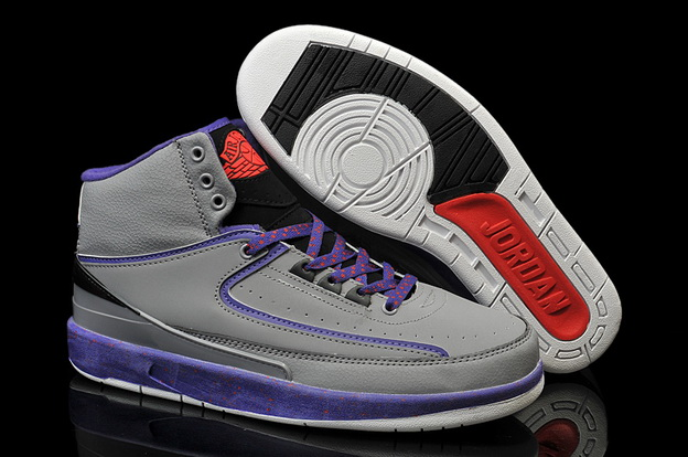 "Air Jordan 2 ""Iron Purple"" Shoes Grey/Purple Black Red"