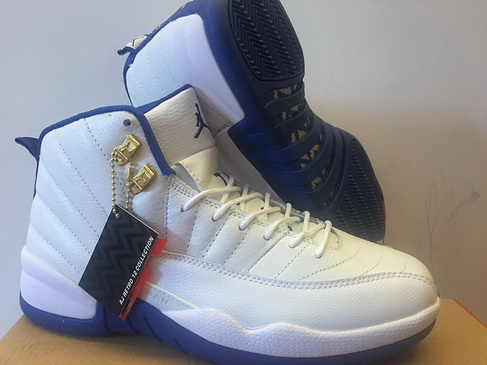 "Air Jordan 12 ""North Carolina"" Shoes Blue/White"