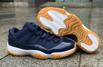 "Air Jordan 11 ""Navy Gum"" Low Shoes Dark Blue/White Khaki"