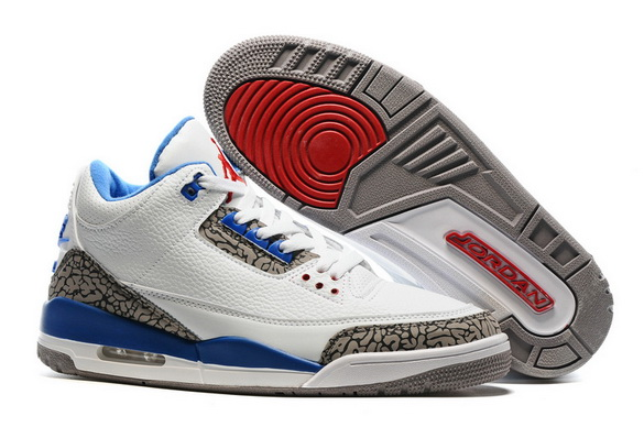 "Air Jordan 3 Retro ""Air Logo Tab"" Shoes True Blue/White Cement"