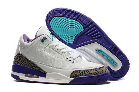 "Air Jordan 3 ""Hornets"" Shoes White/Grey Cement Blue"