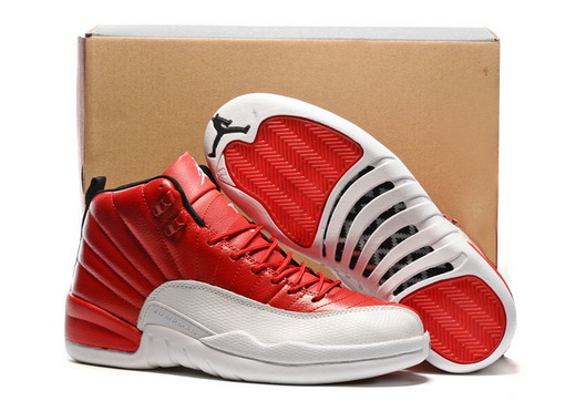 "Air Jordan 12 Retro ""Gym Red"" Shoes Chicago bulls red/White"