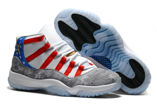 "Air Jordan 11 ""Moon Landing"" Shoes White/Blue red grey"