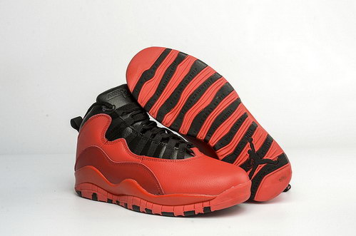 Air Jordan 10 Retro Shoes Fusion Red/Black