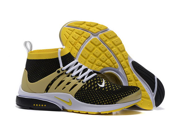 Air Presto Ultra Flyknit Shoes Yellow/black white