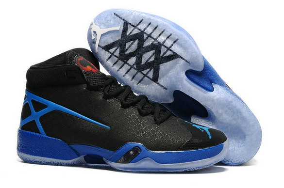 Air Jordan 30 XXX Shoes Black/True Blue