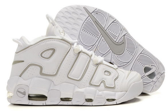 Air More Uptempo Shoes White/grey