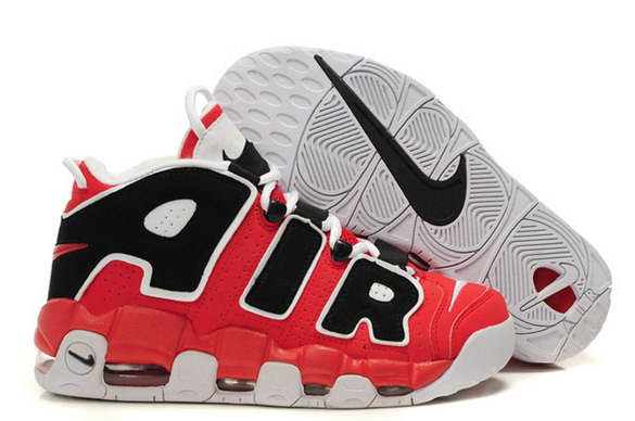 Air More Uptempo Shoes Red/black white