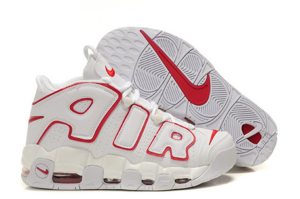 Air More Uptempo Shoes White/red